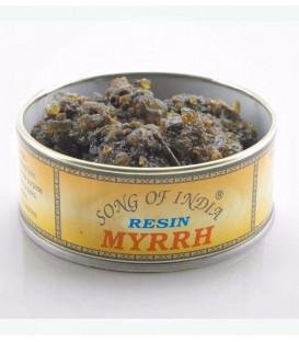 Naturalne kadzidło do spalania żywica MIRRA, Myrrh, puszka 60g. Song of India