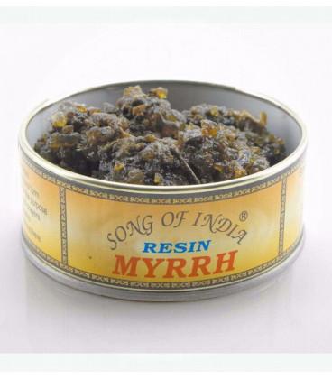 Naturalne kadzidło do spalania Myrrh, puszka 60g. Song of India