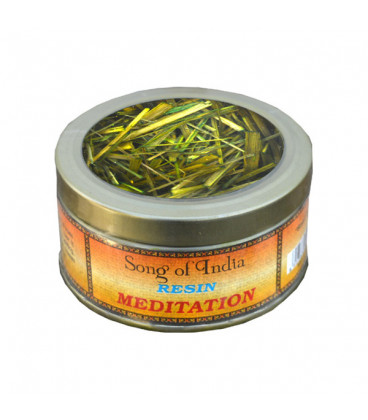 Naturalne kadzidło do spalania żywica Meditation, puszka 10g. Song of India