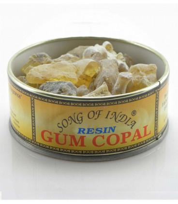Naturalne kadzidło do spalania żywica Gum Copal, puszka 60g. Song of India