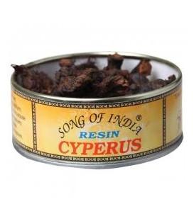 Naturalne kadzidło do spalania żywica Cyperus, puszka 25g. Song of India