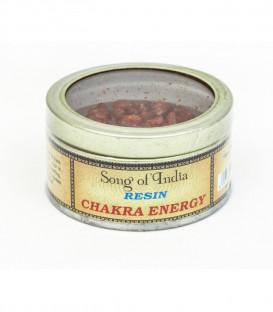 60 g. Chakra Energy Natural Resin in Glass Tin Jar Small RES-CG