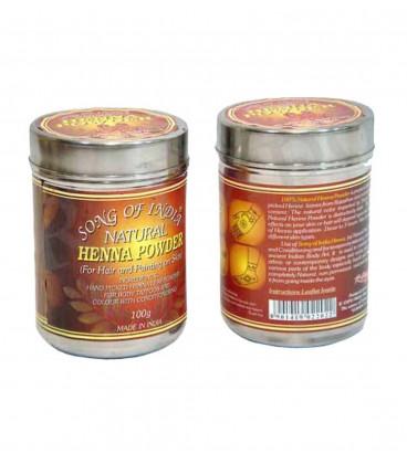 Henna w proszku Miedziany brąz Natural Color puszka 100 g. Song of India