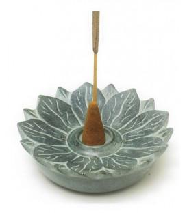 Kamienna podstawka na kadzidła w kształcie Lotosa Song of India - na kadzidła w stożkach i patyczki