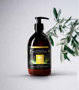 Mydło w płynie BIO Trawa Cytrynowa & Oliwa 100% organiczna oliwa z oliwek Extra Virgin 500ml Olive & Moi