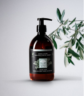 Mydło w płynie BIO Eukaliptus & Oliwa 100% organiczna oliwa z oliwek Extra Virgin 500ml Olive & Moi
