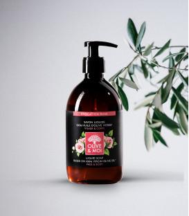 Mydło w płynie BIO Róża & Oliwa 100% organiczna oliwa z oliwek Extra Virgin 500ml Olive & Moi
