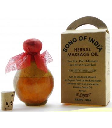 Ziołowy olej do masażu z aromatyczną esencją Ambry, Song of India, 100ml