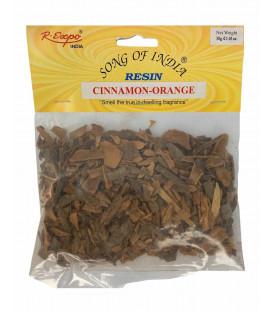 30 g. Cinnamon-Orange Natural Resin in Hanging Pouch REP-CIO