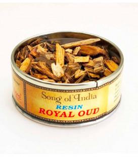 Naturalne kadzidło do spalania Royal Oud  (drewno agarowe) puszka 40g. Song of India