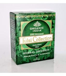 Herbata Tulsi Mix 6 smaków torebek Organic India - Testuj wszystkie klasyczne smaki!