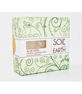 Ręcznie robione w Indiach mydło - ALOE VERA - 100% VEGAN. 125g. Soil & Earth