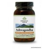 ASHWAGANDHA 90 kapsułek Organic India suplement diety