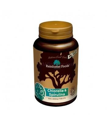 Chlorella & Spirulina BIO (300 tabletek x 500 g) Rainforest