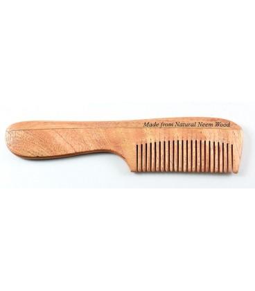 Grzebień do włosów z drzewa Neem, rozmiar D - Soil & Earth