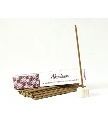 Nie zawierające bambusa kadzidła indyjskie z uchwytem ABUNDANCE 50 sztuk Song of India