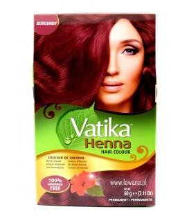 Naturalna Henna do włosów z hibiskusem BURGUND 60g Vatika Dabur