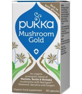 Mushroom Gold - dla układu odpornościowego, 60 kapsułek, PUKKA suplement diety