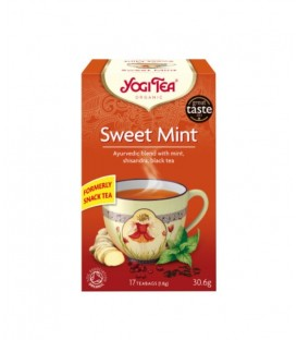 Herbata Sweet Mint & Assam Yogi Tea BIO - 17 torebek