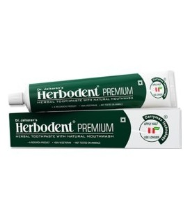 Pasta do zębów Herbodent Premium Przeciw próchnicy Dr. Jaikaran - ajurwedyjska receptura 21 ziół