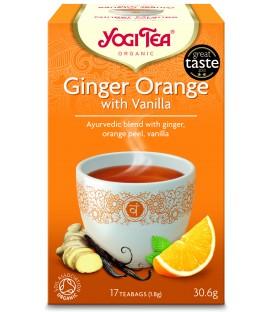 Herbata Imbirowo - Pomarańczowa z Wanilią BIO 17 torebek YOGI TEA