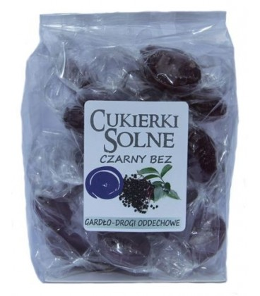 Cukierki solne o smaku czarnego bzu z solą himalajską, 100g