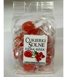 Cukierki solne o smaku dzikiej róży z solą himalajską, 100g