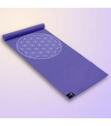 "Mata do jogi Yogimat Basic ""Flower of Life"", FIOLETOWA 185 cm x 61 cm x 4 mm"