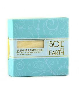 Ręcznie robione w Indiach mydło 100% VEGAN Jaśmin i Paczuli, 100g Soil&Earth