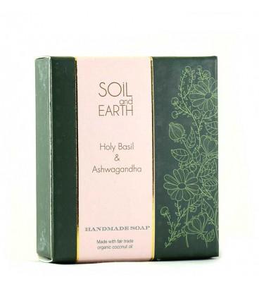 SOIL AND EARTH HANDMADE SOAP- HOLY BASIL