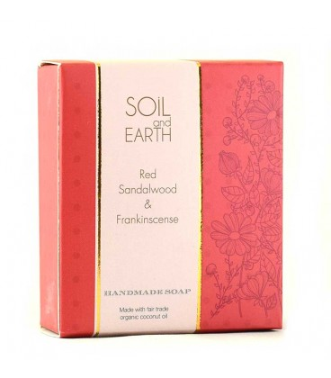 SOIL AND EARTH HANDMADE SOAP- RED SANDALWOOD
