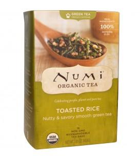 Herbata BIO Zielona Sencha Genmaicha z Palonym Ryżem, 18 torebek, Numi Organic Tea