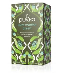 Herbata Mint Matcha Green Pukka, 20 saszetek