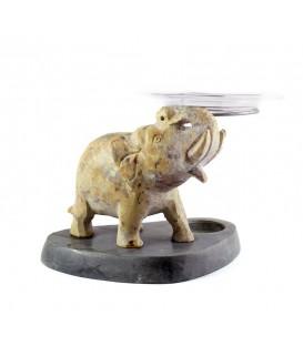 Lampa do aromaterapii z figurką słonia z źywicy, 15cm, Song of India
