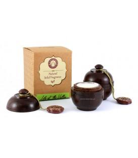 Perfumy w szkatułce z drzewa różanego KONWALIA 6g Song of India