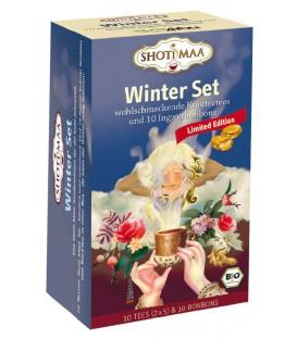 Herbata Zimowy Zestaw Herbaciany BIO 10 saszetek + krople imbirowe Shoti Maa