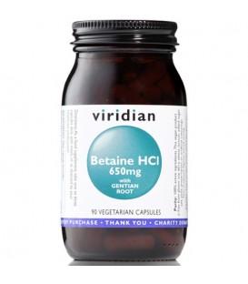 Betaina HCL z Goryczką (90 kapsułek) suplement diety Viridian