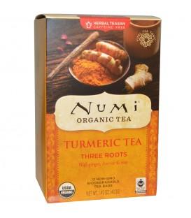 Herbata BIO Trzy korzenie, Kurkuma & Imbir & Lukrecja, 12 torebek, Numi Organic Tea