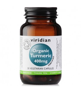 Organic Turmeric – ekologiczna kurkuma (30 kapsułek) suplement diety Viridian