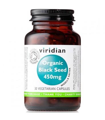 Organic Black Seed – Ekologiczna Czarnuszka 450 mg  (30 kapsułek) suplement diety Viridian