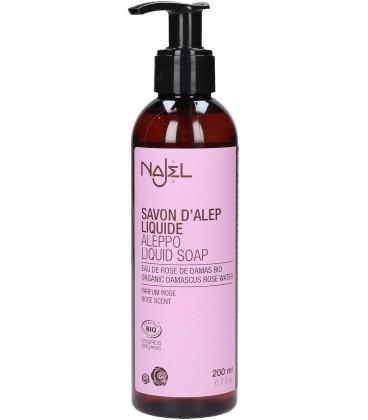 Liquid Aleppo soap with Organic Damascus rose water - 6.7 fl.oz