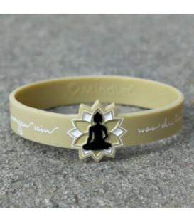 Bransoletka z inspirującym symbolem Buddy w kolorze Vanilla