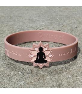 Bransoletka z inspirującym symbolem Buddy w kolorze Różanym