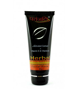 PATANJALI ACTIVATED CARBON FACIAL FOAM 50ml