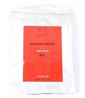 Naturalna Henna do włosów Indyjska CZERWONA 100g Soil &Earth