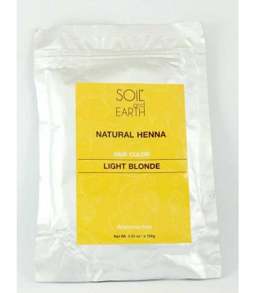 Naturalna Henna Indyjska JASNY BLOND 100g Soil &Earth