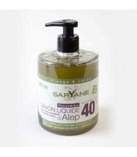 Żel pod prysznic z pompką Aleppo 40% Olejku Laurowego 500 ml Saryane