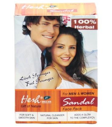 Sandałowa Maseczka do Twarzy dla Kobiet i Mężczyzn 100g Hesh
