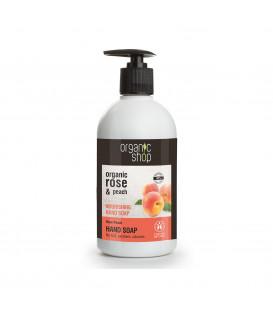 Mydło do rąk odżywcze Róża i Brzoskwinia 500 ml ORGANIC SHOP