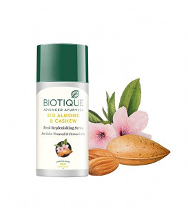 Biotique Bio Almond and Cashew Fresh Replenishing Serum for Color-Treated and Permed Hair, 40ml